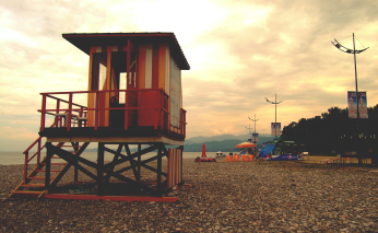 Black Sea Lifeguard Stand