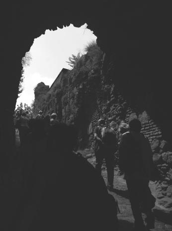 Tourists Climbing