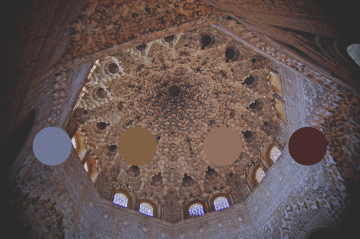 Granada---ALHAMBRA---Honeycomb of the Hall of the Abencerrajes - Color Palette