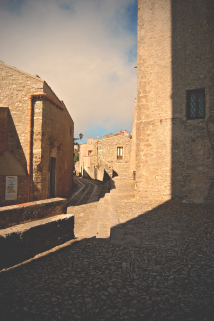erice street and shadows